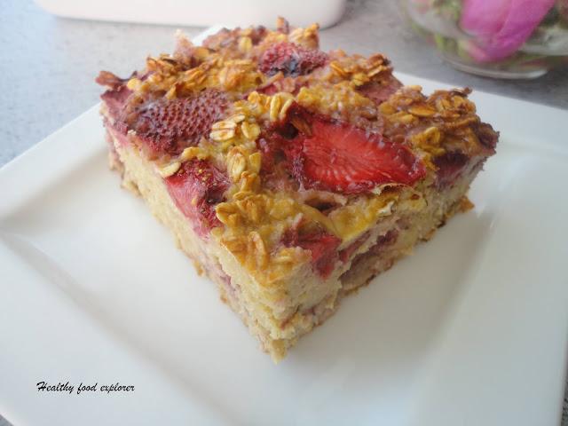 Ciasto owsiane z owocami