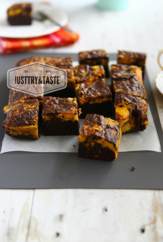 Resep Pumpkin Swirl Brownies