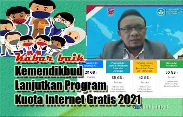 KABAR BAIK! Kemendikbud Lanjutkan Program Kuota Internet Gratis 2021