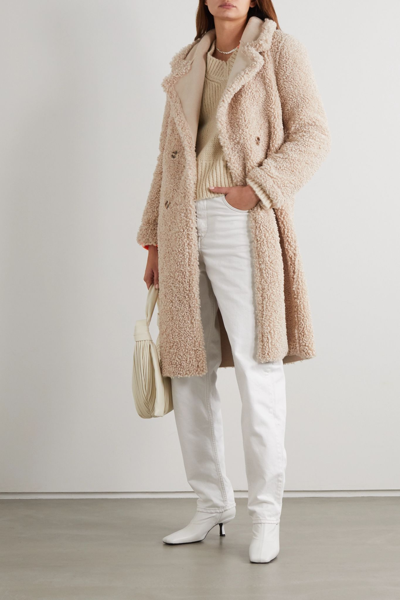 How To Style A Shearling Teddy Coat — Styling Net-a-Porter Winter Outfit Ideas