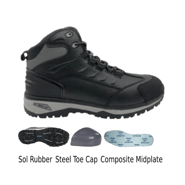 Sepatu Boots Safety Eurostat Graphite