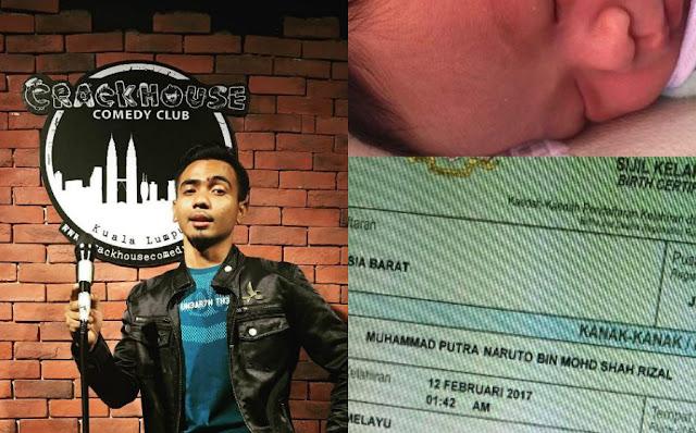 Namakan anak 'Muhammad Putra Naruto', Shah Tapaw Dikritik Netizen