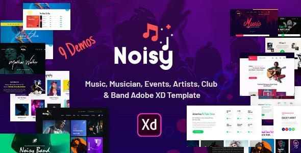 Best Music Adobe XD Template