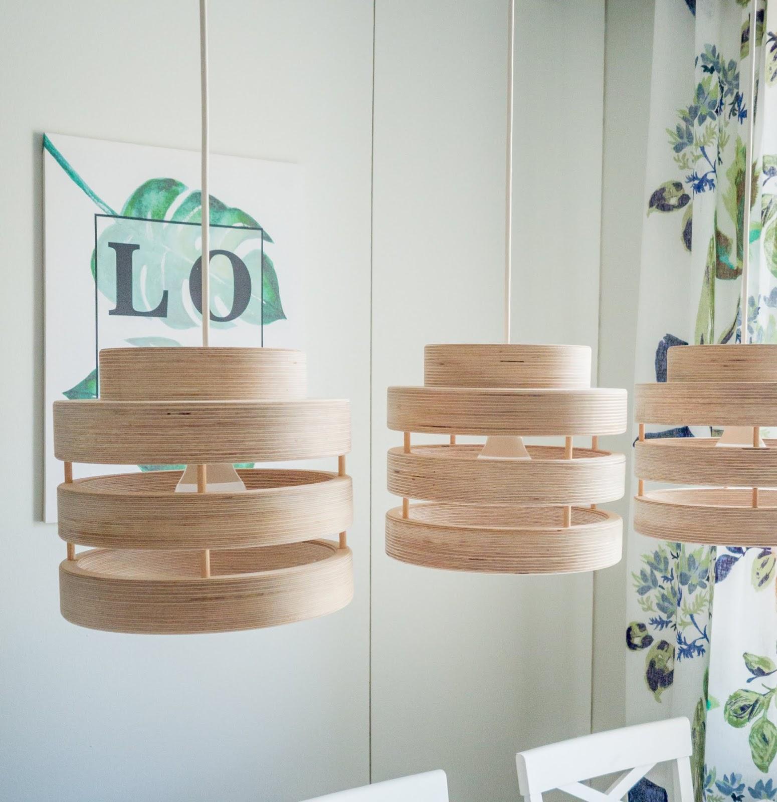 Kolme harmonia valaisinta keittiössä koossa 23cm