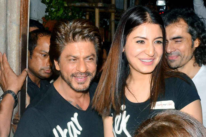 ShahRukh Khan and Anushka Sharma at Khar Social In Khar West, Mumbai.