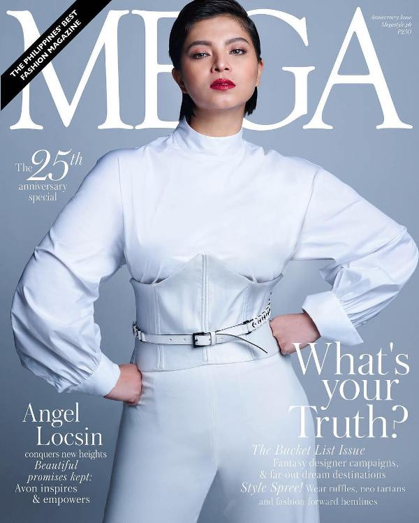 Angel Locsin on the cover of Mega Magazine's 25th anniversary issue