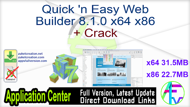 Quick 'n Easy Web Builder 8.1.0 x64 x86 + Crack