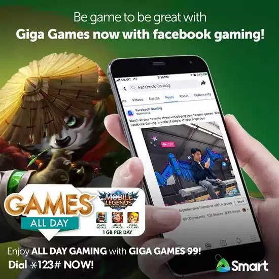 Smart Giga Games Promo now with FB Gaming!