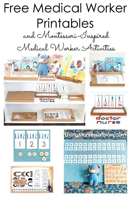Montessori-Inspired Medical Worker Activities Using Free Printables