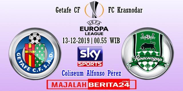 Prediksi Getafe vs Krasnodar — 13 Desember 2019