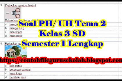 Contoh Soal PH/ UH Kelas 3 SD Tema 3