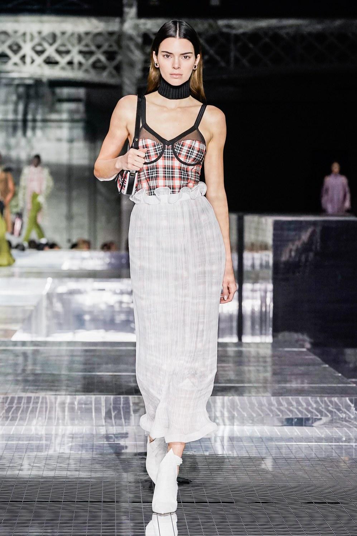 Kendall Jenner walks Burberry Fall Winter 2020 London Fashion Week Show