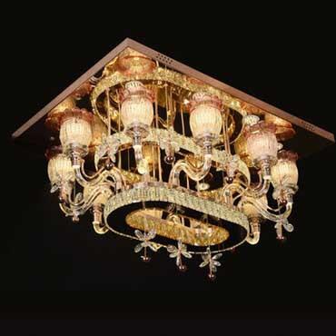 Điểm qua những mẫu đèn trần thủy tinh vuông HOT nhất hiện nay