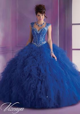 Vestidos de 15 Años Azules para fiesta