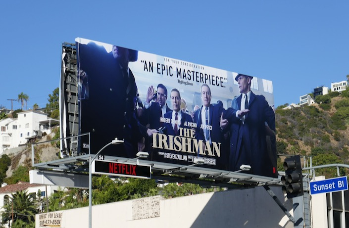 Irishman film FYC billboard