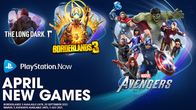 playstation now borderlands 3 marvel's avengers the long dark pc ps4 ps5 lineup april 2021 sony
