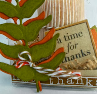 SRM Stickers Blog -Shelly Kurth- #Thanksgiving #candle #quickcard #stickers #twine #clearbox