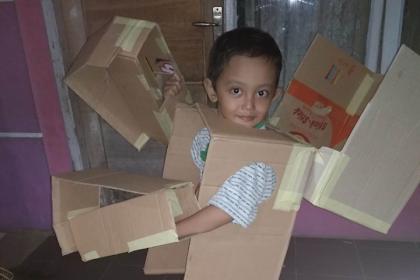 Day 7: Membuat Kostum Robot (Part 2)