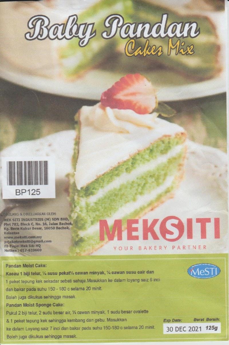 Baby Pandan Cakes Mix Mek Siti