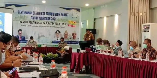 Pemerintah kabupaten Aceh Timur Dukung Program Reformasi Agraria di Aceh Timur