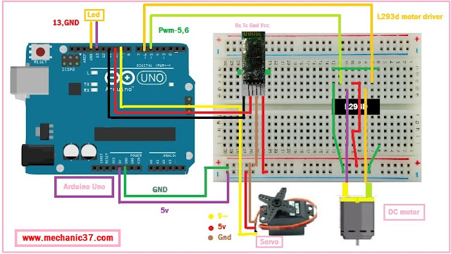 Arduino and android circuit with hc-06
