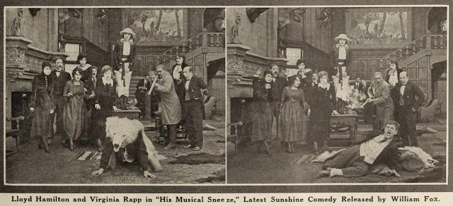 Virginia Rappe Lloyd Hamilton His Musical Sneeze
