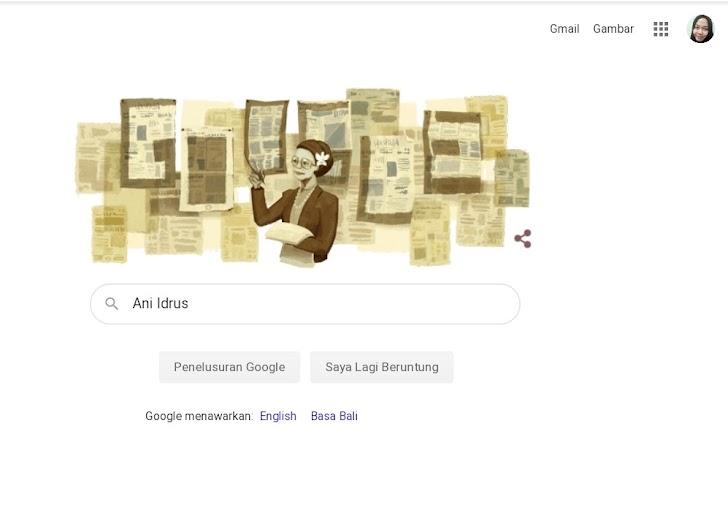 Siapa Sosok Ani Idrus yang Menjadi Google Doodle Hari Ini?