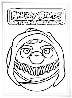 Ausmalbilder Angry Birds Star Wars zum Ausdrucken