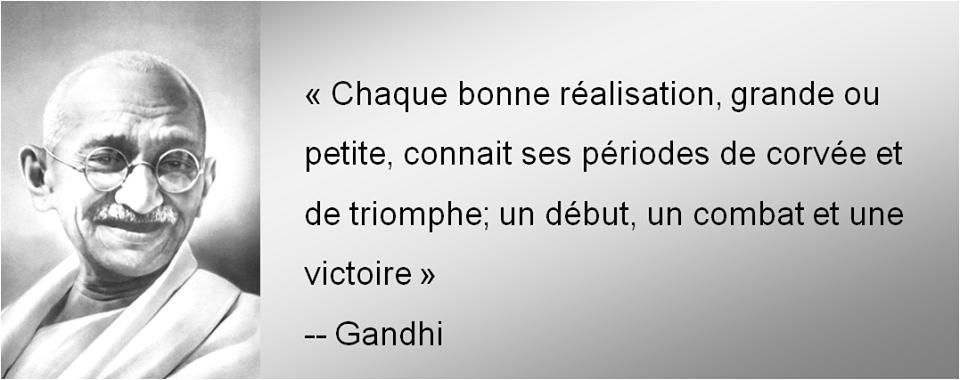 Citations et Panneaux Facebook à partager: Citation de Gandhi