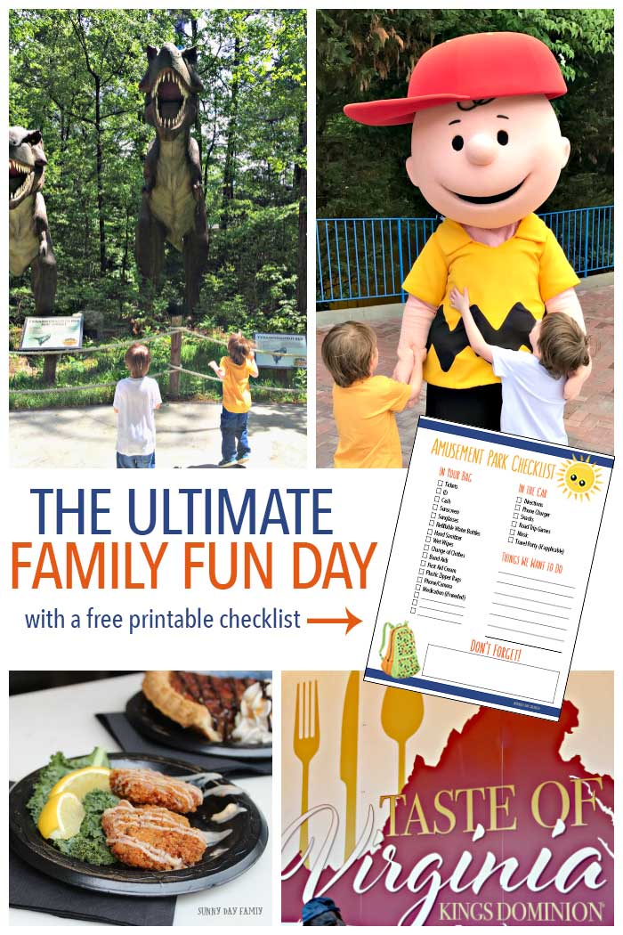 Want the ultimate in family fun? Head to King's Dominion! With Planet Snoopy and Dinosaurs Alive, your kids will have a blast - and you can enjoy great food and drink with the Taste of Virginia in May. Plus get a free printable amusement park checklist to get organized before your trip!
