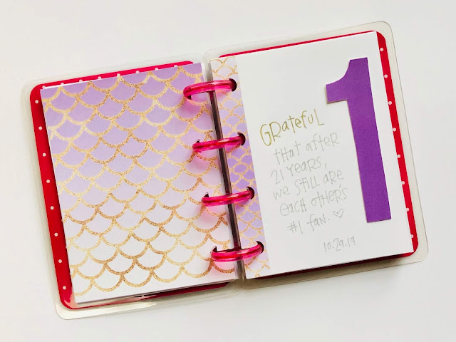#gratitude #gratitude journal #Happy Planner #The Happy Planner #grateful #journaling #thankful #thanfulness #Mindfulness #365 Things I Am Grateful For