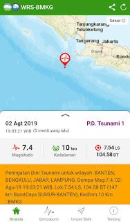 Berpotensi Tsunami, Gempa 7,4 SR Guncang Banten Hingga Jakarta, Depok dan Bogor