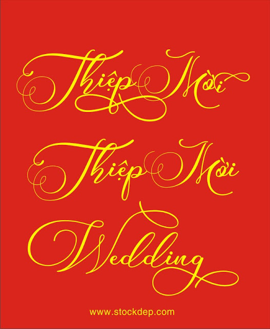 Chia sẻ Mẫu Chữ Thiệp Mời wedding