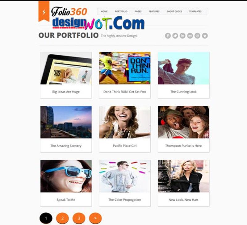 FOLIO360 Responsive MultiPurpose Blogger Template