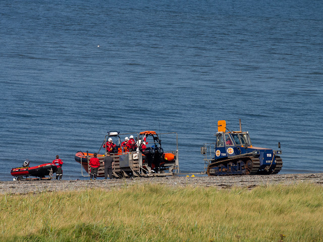 Photo of another view of launching the rescue boat