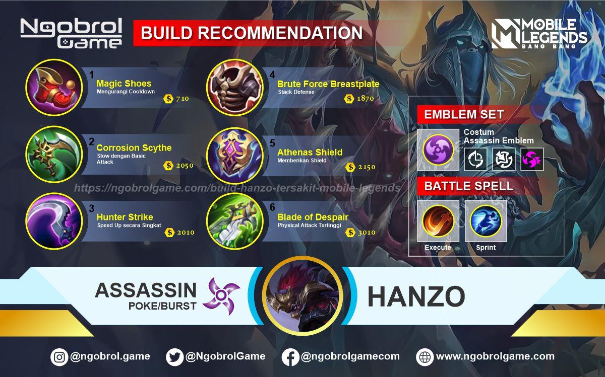 Build Hanzo Tersakit 2021 Mobile Legends