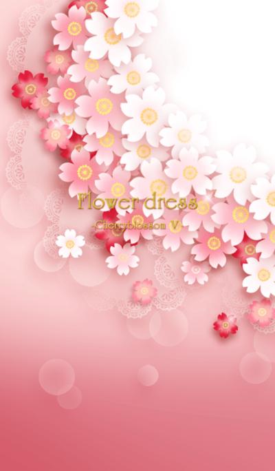 Flower dress -cherry blossom 5- *