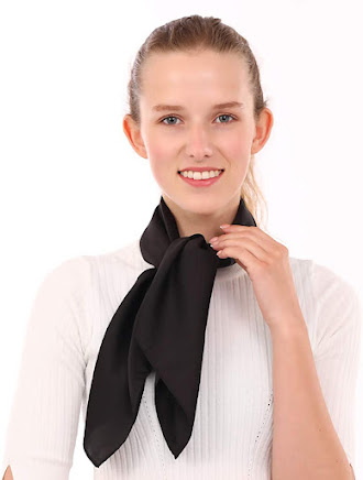 Small Black Satin Scarves