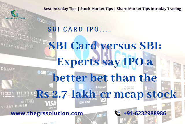 SBI Card IPO: How Many Up For Grabs... The GRS Solution | Best Stock Trading Services Provider RSS Feed THE GRS SOLUTION | BEST STOCK TRADING SERVICES PROVIDER RSS FEED | THE-GRS-SOLUTION.BLOGSPOT.COM BUSINESS EDUCRATSWEB