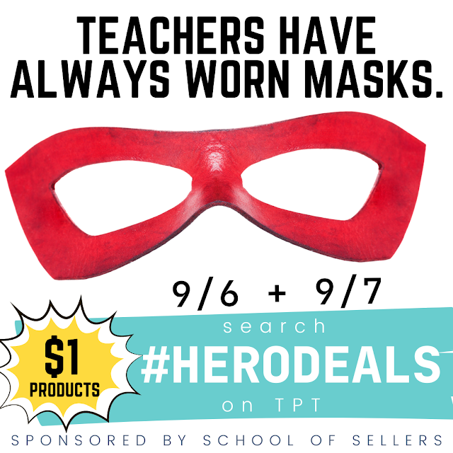 Visit TpT and search #HeroDeals to see all the amazing $1 resources! #FernSmithsClassroomIdeas