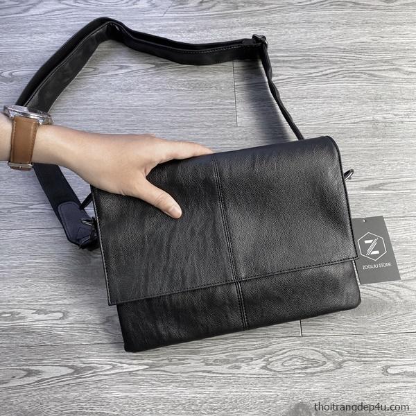 Túi đeo chéo thời trang da nam sang trọng, cao cấp DNZ007