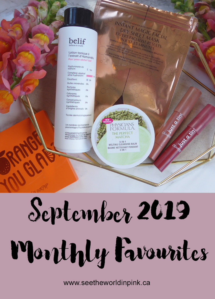 September 2019 - Monthly Favourites!