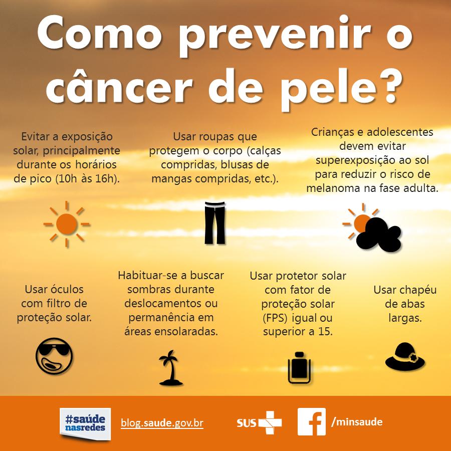 Prevenção do câncer de pele. Foto: Ministério da Saúde