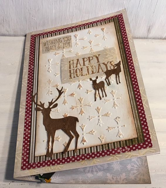 Winter Wonderland deer Christmas card
