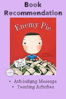 Bullying can be an issue in a lot of classrooms. It is up to the teacher to find ways to put an end to this! This book recommendation shares the story of Enemy. This book is great for classroom management and is a fun read aloud selection! A summary of Enemy Pie is included along with specific teaching ideas to implement tomorrow. #confessionsofafrazzledteacher #behaviormanagement {Preschool, Kindergarten, First, Second, and Third Grade Students}