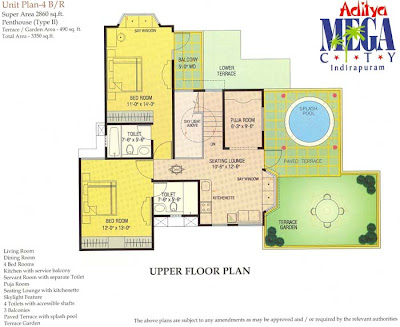 4BHK-penthouse-Aditya-Mega-City