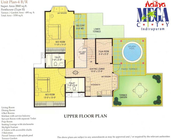 4BHK-penthouse-Aditya-Mega-City-Indirapuram