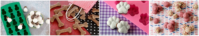 A variety of homemade dog treats
