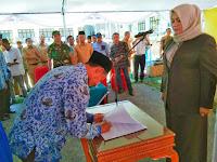 Bupati Lantik 45 Pejabat Stuktural dan 59 Pejabat Fungsional lingkup Pemkab Bima