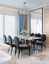Nội thất đẹp và hiện đại phòng khách và bếp ăn